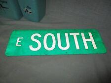 Original Vintage ( e South ) 18 X 6 Metal Street Sign