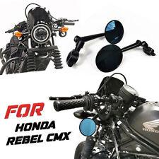 Black Side Mirror Handlebar Rear View Set For Honda Rebel Cmx 300 500 2017 2021 Fits Honda