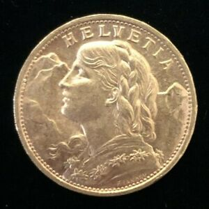 1922 Switzerland, 20 Francs Gold Coin.!