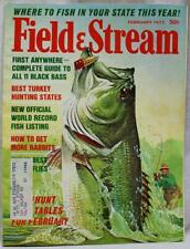 Field & Stream Magazine February 1972 Vintage Hunting Fishing Sporting Outdoors