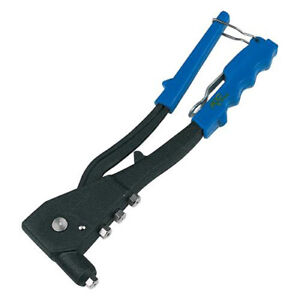 260mm 2.4mm-4.8mm Hand Riveter & 60 Rivets - Interchangeable Heads Incl