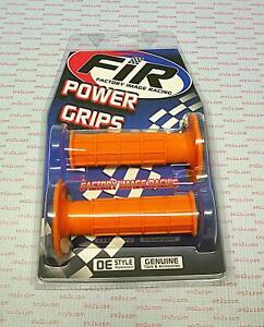FIR Power Orange Full Waffle Grips Motocross Factory Image Racing 22mm 25mm