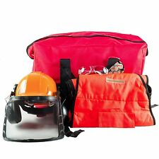 Woodcutter's Safety Kit,Safety Glasses, Apron Chaps, Helmet, Ear Muffs,Gear Bag