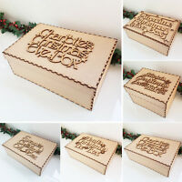 PERSONALISED WOODEN CHRISTMAS EVE BOX and TOPPER - Memory MDF Gift Idea Xmas 321
