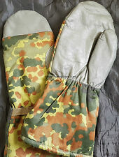 GERMAN PILE LINED COLD WEATHER MITTENS Med/Large M/L, flecktarn, army