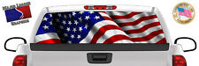 American Flag Patriot BACK Window Graphic Perforated Film Decal Truck SUV