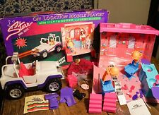 Starr Model Agency On Location Doll Mobile Playset Sports Car & Travel Trailer +