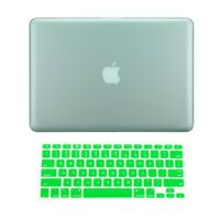 "2 in 1 Rubberized GREEN Hard Case for Macbook PRO 15"" A1286 with Keyboard Cover"