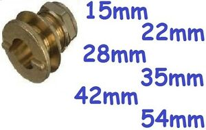 BRASS plumbing pipe compression Tank connector,15mm to 54mm. You choose size