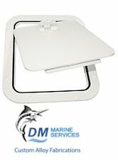 Deluxe White Marine Hatch with Removable Hinged Lid 356 x 310mm