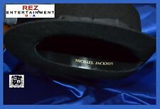 Michael Jackson Premiere Black Fedora Hat With Name