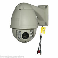 CCTV 600TVL 10x Zoom PTZ Outdoor IR Day/Night Dome Camera Sony CCD, Pelco D/P