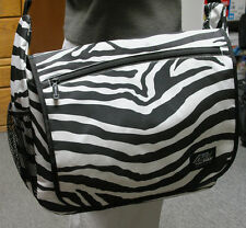 Large Messenger Sling Body Bag School Purse ZEBRA Stripe Pack Shoulder School