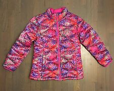 The North Face Girls' Aconcagua Down 550 Jacket - Grey/Pink/Purple XL 18 MINT
