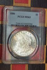 1886 Morgan Silver Dollar PCGS MS-63       ***NICE All Original Coin***