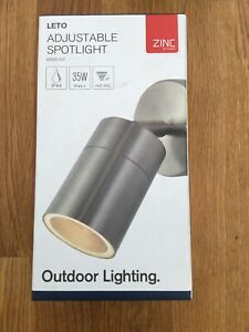 Zinc Leto 26536-SST Adjustable Outdoor Spotlight Stainless Steel