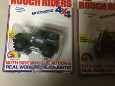 Vintage 1981 Ljn O.m.n.i rough riders lot of 2 Assault tank,invader command Jeep