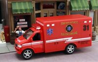 New Red Paramedic Ambulance Fire Dept. Approximately 1/43 Scale
