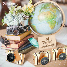 50×Wedding  Guests Souvenirs Compass+Candy Box Paper Gift Bags Party Favors