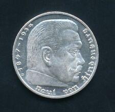 Dt.REICH # J.367 # 5 RM # 1936 D # Silber # Hindenburg & Adler auf HK #338