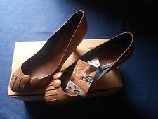 zapatos de tacon piel marrones zara talla 38 shoes brown