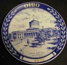 Ohio State Collector Chateu Denmark Plate art capitol Columbus 1972 70s Vintage