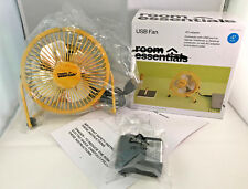 New usb fan room essentials yellow w/ac adapter