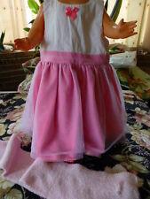 neuve 18-24mois robe a tulle adorable et écharpe grain de sel rose