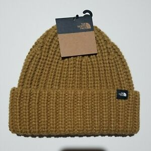 The North Face Chunky Knit Watchman Beanie. Utility Brown.
