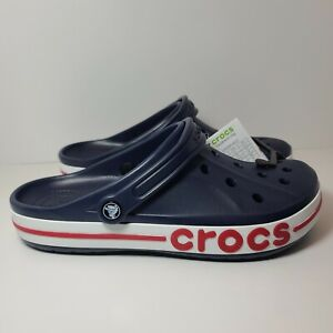 Crocs Bayaband Clog 205089-4CC Size Mens 11 Navy Blue Red