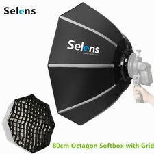 80cm /32'' Octagon Softbox Umbrella with Grid Kit Bowens Mount for Speedlight