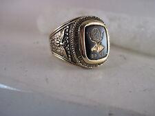 BPOE  crest ring open back  size  13   dark   stone   (6jn11  60 )