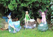 Fairy Statue Spots solaires (Triple Pack) Décoration De Jardin Cadeau Outdoor Indoor