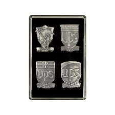 UNITED PARCEL SERVICE UPS LAPEL TIE HAT PIN All 4 LOGO COLLECTIBLE SET IN CASE