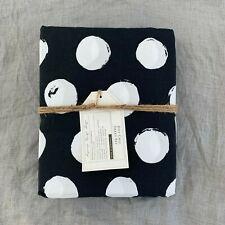 Pottery Barn Teen Dot Chic Twin XL sheet set Black White