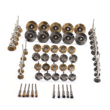 60Pcs Brass Steel Wire Brush Polishing Wheels Full kit for Dremel Rotary Tools