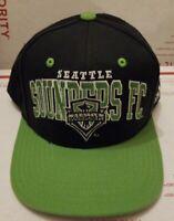 Seattle Sounders FC Adidas Authentic Snapback Hat Cap