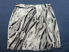 Sara 1X 18 Black White Wrap Look Skirt