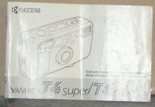 Yashica T4 Super/ T4 Super D Camera Instructions Booklet