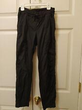 Women Lululemon Studio Dance Pants Black Tone On Tone Stripes Size 6