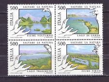FRANCOBOLLI Italia 1987 Salvaguardia della Natura Fiumi e Laghi MNH**