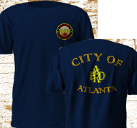 New ATLANTA Georgia Fire Department FIREFIGHTER Firearm Navy T-SHirt S-3XL