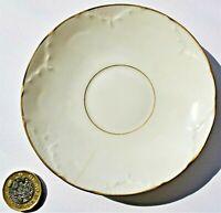 Antique Delinieres Limoges D&C France Porcelain Tea Saucer Gold Rim 1894 to 1900