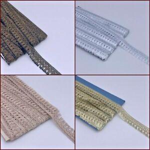 Mini Tassel Fringe Braid Trimming Vintage Style Ribbon Ethnic Border Lace 2yrds