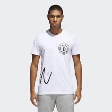 Adidas para Mujer Camiseta Logo Nuevo Camisa CV7969 Blanco Negro