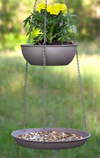 Bird Feeder & Planter OR Fruit & Vegetable Basket 2 Tier Hanging Basket w/hook