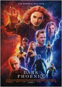 X Men Dark Phoenix Movie Large Poster Art Print Maxi A0 A1 A2 A3 A4