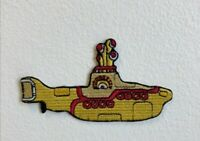 Cute Yellow Submarine Cartoon Kids Embroidered Iron Sew on Patch j1828