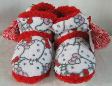 Hello Kitty Slipper Boots Plush Faces NICE GIFT FREE USA SHIPPING SMALL 5-6