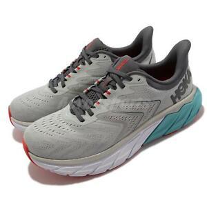 Hoka One One Arahi 5 2E Wide Grey White Blue Men Running Shoes 1115011-HMAQ